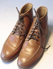 Mint BROOKS BROTHERS 8.5 Brown Cognac Cap Toe Leather Ankle Boots
