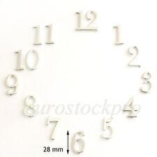 Lot 12 Chiffres Breguet Argent Arabes Horloge Pendule Mouvement Style Ancien