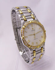 Concord Saratoga SS & 18k Gold Men's Swiss Watch + Diamond Bezel - 15.58.237