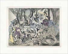 Triumph des Pan nach Poussin Orgie Nacktheit Antike Mythologie Pablo Picasso 079
