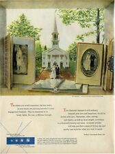 """1952 DeBeers  """"A Day to Remember"""" painted by Brian Connelly  PRINT AD"""