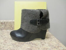 Max Studio Arctic Wedge Ankle Fur Boot 8 M Black New with Box