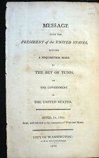 1806 THOMAS JEFFERSON BARGAINS WITH THE BEY OF TUNIS FOR HIS SHIPS