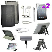 9 in 1 Accessory Bundle Kit Black Leather Case Cover Earphone For iPad Mini 2