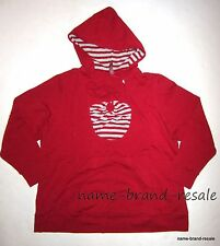 GITANO NWT Red Silver Striped Halter 2fer Hooded Top Shirt Womens Plus 22 24 3X