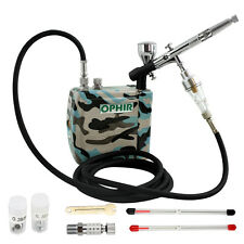 OPHIR 3 Tips Dual Action Airbrush Kit 12V Mini Airbrush Compressor Nail Art Cake