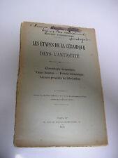 E. Fourdrignier : les étapes de la CERAMIQUE dans l'antiquité 1905
