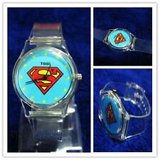 New Marvel Superman Analog Snap On Silicone Sports Quartz Wrist Plastic Watch A