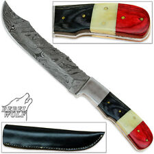 Carver Bowie by Rebel Wolf Damascus Forged Steel 1095 Knife Sharp Hunting