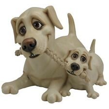 PETS WITH PERSONALITY 5513 YELLOW LABRADOR AND PUP COLLECTABLE ORNAMENT