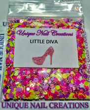 Limited Edition Glitter Mix~LITTLE DIVA* Comes With Alloy~ Nail Art