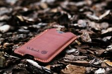 iPhone 5,5s,5 plus Leather Case TOTALLY HANDMADE Pouch Purse Sleeve Cover Phone