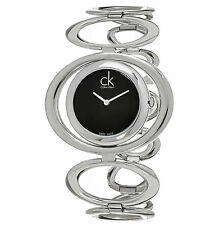 Calvin Klein Women's K1P23102 Graceful Black Dial Swiss Quartz Watch