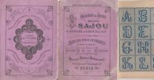 Ancien authentique album SAJOU N°203 marques broderie abécédaires / rose in 16