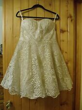 Modcloth Goodnight Swoon Golden Embroidery Dress Chi Chi London Size 12 NWT