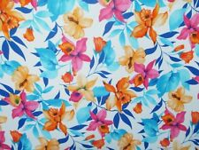 2 YARDS STRETCH POLY SPANDEX LYCRA FABRIC BEAUTIFUL FLORAL PRINT
