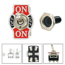 Car 20A 125V 15A 250V DPDT 6Pin ON/OFF/ON Momentary Toggle Switch Cap ATM Sales