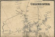 Colchester Westchester Lake Hayward CT 1868  Maps with Homeowners Names Shown