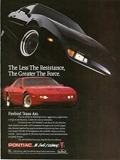 1991 PONTIAC FIREBIRD TRANS AM AD POSTER 24 X 36 INCH Looks GREAT!