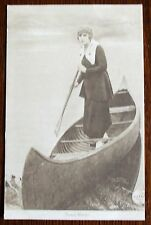 Old sepia film star Postcard - Pearl White.
