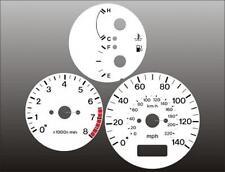 1997-1998 Mazda Protege White Face Gauges 97-98