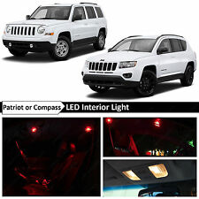 6x Red Interior LED Light Package Kit 2007-2016 Jeep Patriot & Compass + TOOL
