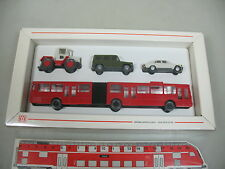 AI54-0,5# Wiking H0 Set Mercedes-Benz MB: Bus+PKW 190 E+Truck etc, NEUW+OVP