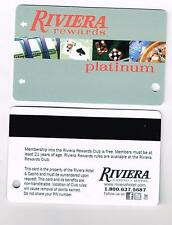 RIVIERA CASINO LAS VEGAS, NEVADA ( 1000 ) PLATINUM PLAYERS CARDS BRAND NEW!