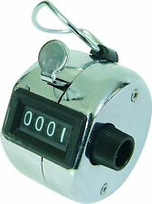 Chrome Hand Tally Counter 4 Digit 0-9999. Bird or Shot Counter, Door Staff