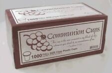 """Disposable Communion Cups Box of 1000 (Swanson) 1 3/8"""" High Brand New"""
