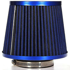Universal Car Air Intake Filter Induction Kit High Power Sports Mesh Cone Blue