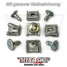 10 x SET MOTOR protection Unterfahren de protection en métal nouveau CLIPS AUDI VW PASSAT SKODA KLIP