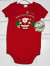 RED CHRISTMAS BODYSUIT by Nursery Rhyme (100% cotton)  sz 6 m