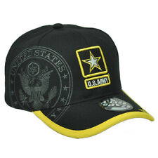US ARMY STRONG LICENSED SEAL MILITARY BLK STAR HAT CAP