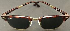 Ray-Ban RB2176 990 51-21 Clubmaster Folding Green Classic G-15 Sunglasses