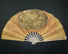 EVENTAIL PUBLICITAIRE ANCIEN CAFE PARIS FOUQUET FRAGONARD ADVERTISING FAN OLD