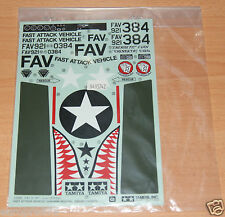 Tamiya 58539 Fast Attack Vehicle w/Shark Mouth, 9495742/19495742 Decals/Stickers