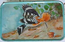 INDIAN RARE C1980 ADVERTISE SWEET TIN BOX NATURAL BEAUTY LOVELY BIRDS ASIAN FINE