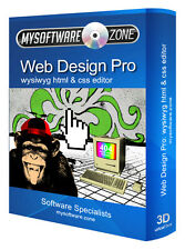 Web Design Pro WYSIWYG Website CSS HTML Editor Frontpage Dreamweaver Alternative