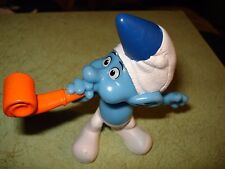 "2013 Peyo McDonald's Party Planner Smurf Figurine Hard Plastic 3.25"" MINT"