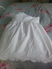 Simply Shabby Chic White Eyelet Scallop Ruffled Bedskirt dust ruffle  TWIN