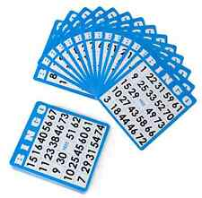 Royal Bingo  Blue Bingo Cards 50 Set Vintage Games Slider Hobbie Lotto Craft
