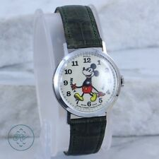 Vintage - BRADLEY DISNEY Swiss Movement 1970 'Fat Boy' Mickey Mouse - Watch