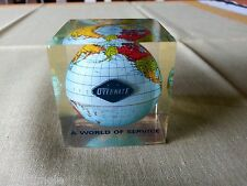 RARE Vintage  OVERNITE EXPRESS CO ACRYLIC GLOBE PAPERWEIGHT EXPRESS DELIVERY