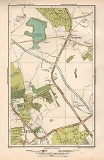 1933 LONDON MAP-ELSTREE,STANMORE,ALDENHAM RESERVOIR