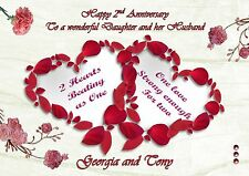 Personalised wedding anniversary card wedding day card engagement card 5