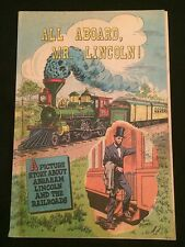 ALL ABOARD, MR. LINCOLN! Giveaway Comic VG+ Condition