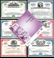 Scripophily Collection - Holiday Gift Idea - 15 Certificates + Book