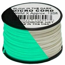 New Atwood Rope Glow-in-the-Dark MC125  1.18mm x 125ft. Micro Cord Paracord