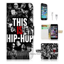 """iPhone 6 Plus (5.5"""") Print Flip Wallet Case Cover! Hip Hop P0132"""